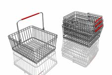 Free 3d Baskets Royalty Free Stock Photography - 7962727