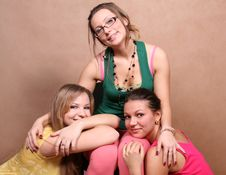 Three Female Friends Together Royalty Free Stock Photos