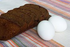 Bread And Eggs Stock Images