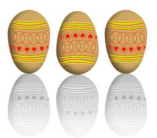 Free Painted Eggs Stock Image - 7963491