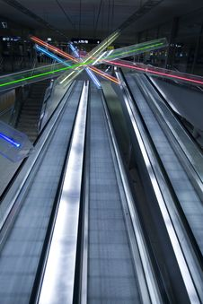 Free Escalators Stock Image - 7963511