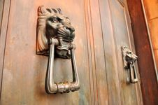 Lion Head Door Handles Royalty Free Stock Photos