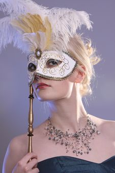 Free Woman With Mask Stock Photography - 7963582