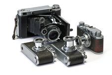 Free Old Photo Cameras Stock Image - 7963731