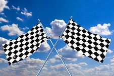 Free Waving A Checkered Flag Royalty Free Stock Images - 7963809