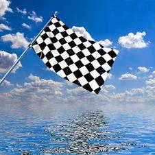 Free Waving A Checkered Flag Stock Photo - 7963820