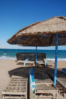 Free Umbrella On The Beach Stock Photography - 7964042