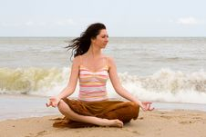 Free Meditation In The Beach Stock Photos - 7965153