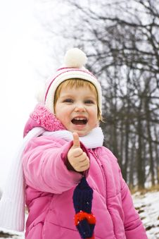 Free Smiling Baby In Pink Jacket Stock Photo - 7965520