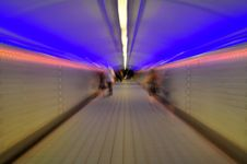 Free Pedestrial Tunnel Blur Stock Photos - 7966333