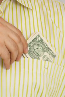 Dollar In Pocket Stock Photography
