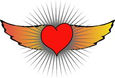 Free Heart With Wing Stock Photos - 7966693