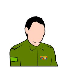 Free Vector Military Officer Avatar Face Stock Photo - 7967570