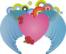 Free Heart With Wings Stock Photos - 7967633