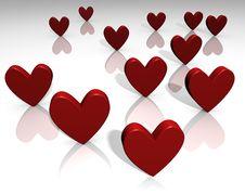 Free Reflective Hearts Stock Photo - 7967920