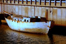 Free Cement Boat Stock Image - 7968211
