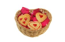 Free Petals And Cookies In Basket Royalty Free Stock Image - 7968306