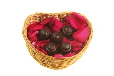 Free Rose Petals And Chocolate Royalty Free Stock Photos - 7968308