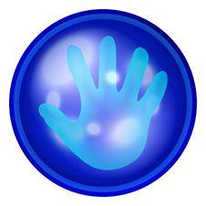 Hand Web Button Royalty Free Stock Photos