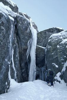 Ice Climbing Sport Royalty Free Stock Images