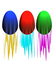 Free Coloured Eggs Stock Images - 7969004