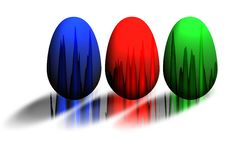 Free RGB Paint Eggs Stock Images - 7969134