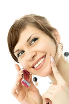 Free Beautiful Woman Talking On The Cellphone Stock Image - 7969731