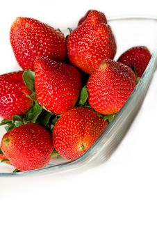 Bowl Of Strawberries Stock Photo