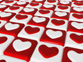Free Chess Love, 3d Red, White Hearts, Chess-board Stock Photo - 7974900