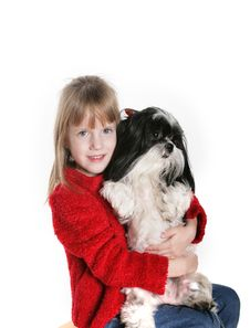 Free A Girl And Her Dog Stock Photo - 7970260