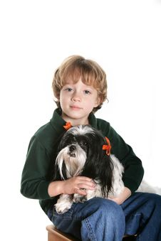 Free A Boy And His Dog Stock Images - 7970264