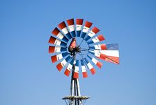 Free Patriotic Windmill Stock Photography - 7970662
