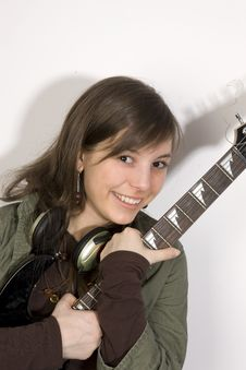 Free Guitar Woman Stock Photos - 7970913