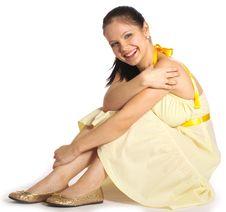Free Girl In Yellow Dress Stock Image - 7970951