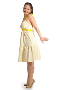 Free Girl In Yellow Dress Stock Photography - 7971042
