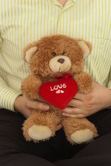 Free Male With Teddybear Stock Photo - 7971080