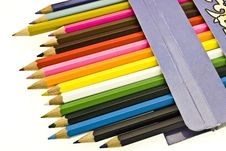 Free Colorful Pencils In Box Stock Photos - 7971333