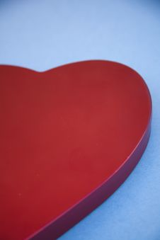 Free Red Heart On Blue Background Royalty Free Stock Photo - 7971745