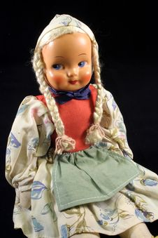 Antique Polish Doll Royalty Free Stock Photo