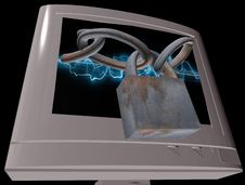 Free Secure Computer Stock Image - 7972301