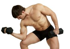 Free Athletic Male With Dumbbells Stock Photos - 7972743