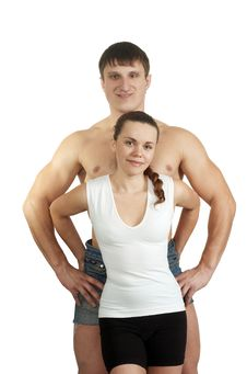 Free Fitness Man And Fitness Woman Royalty Free Stock Photo - 7972805