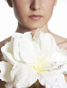 Free Beautiful Girl Smells Flower Royalty Free Stock Photography - 7973457