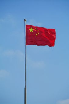 Free Chinese Flag Royalty Free Stock Photo - 7973465