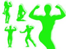 Free Body Builder Silhouette Stock Image - 7973481