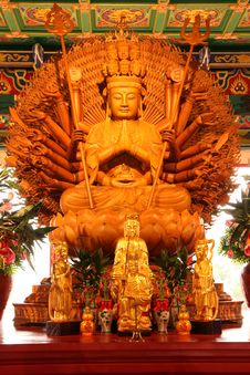 Thousand Hands Buddha Image. Stock Images