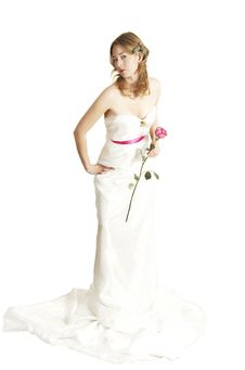 Free Bride With A Rose Royalty Free Stock Image - 7974556
