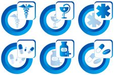 Medical Buttons Stock Image