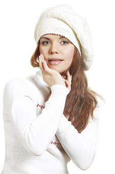 Free Girl In The Winter Royalty Free Stock Image - 7974986