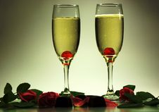 Free Love, Champagne And Sweets Stock Images - 7975204